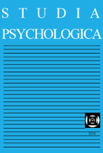 STUDIA PSYCHOLOGICA International Journal for Research and Theory in Psychological Sciences JCR Impact Factor 0.644